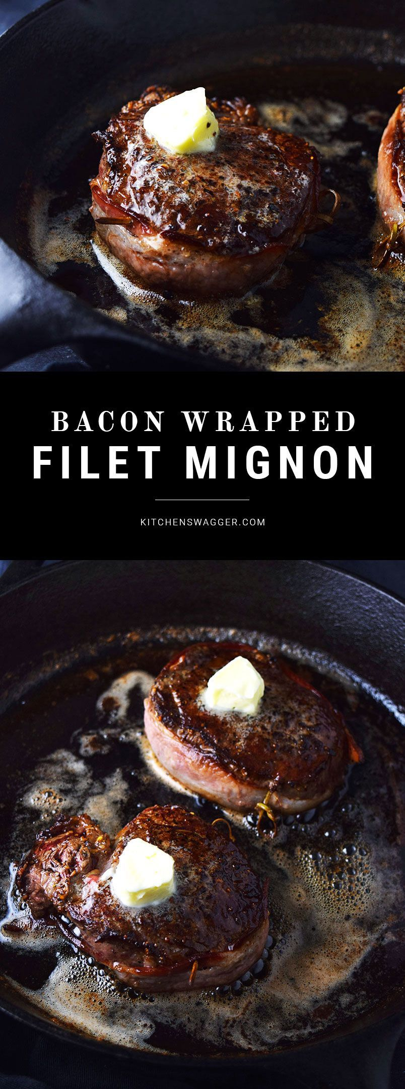 Baconwrapped filet mignon with truffle butter recipe