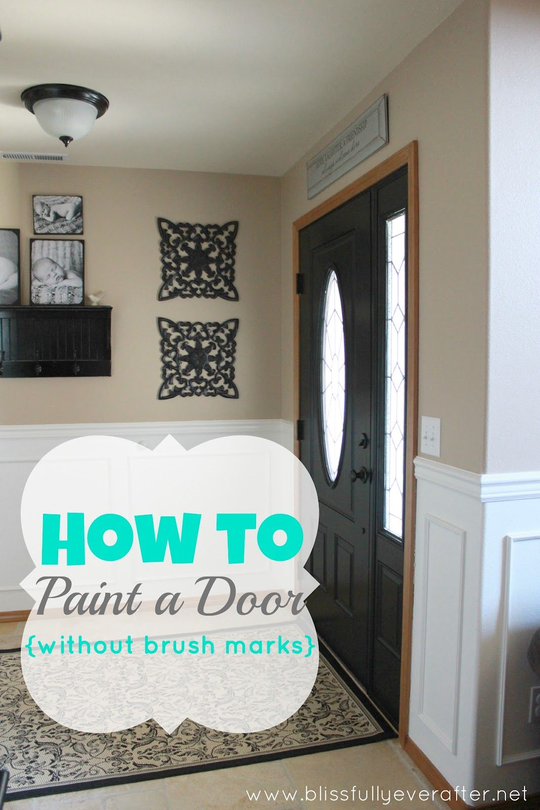 how to paint a metal door with a brush