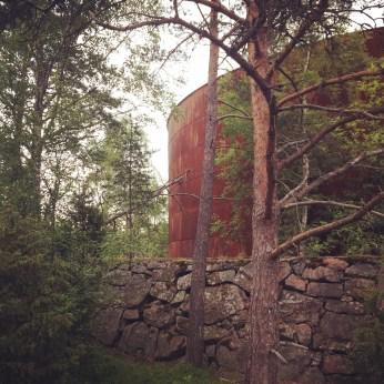 The old water tower in Vasikkasaari