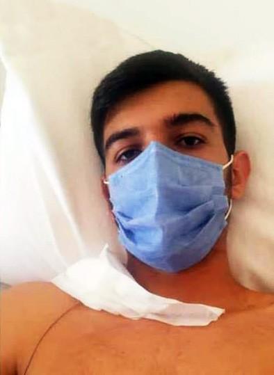 Yalova'da yorgun mermi öğrenciyi yaraladı