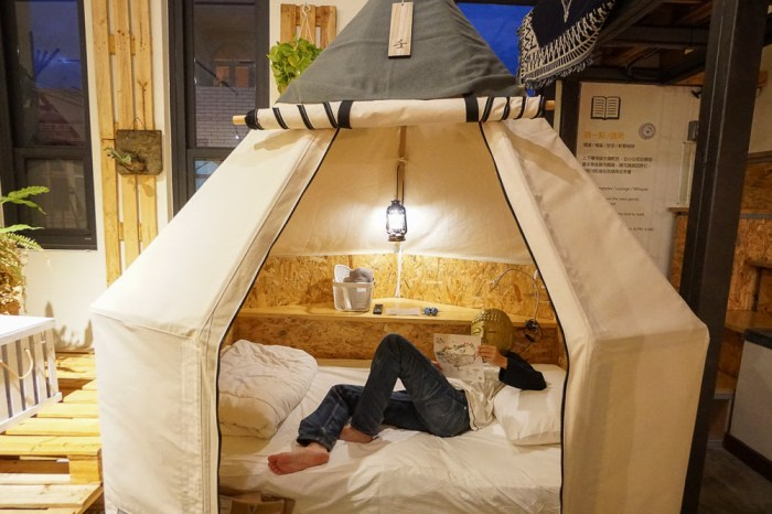 恆春信用帳Campsule Hostel-帳蓬形式的膠囊旅館,適合約好友來百年青年旅館作「帳」