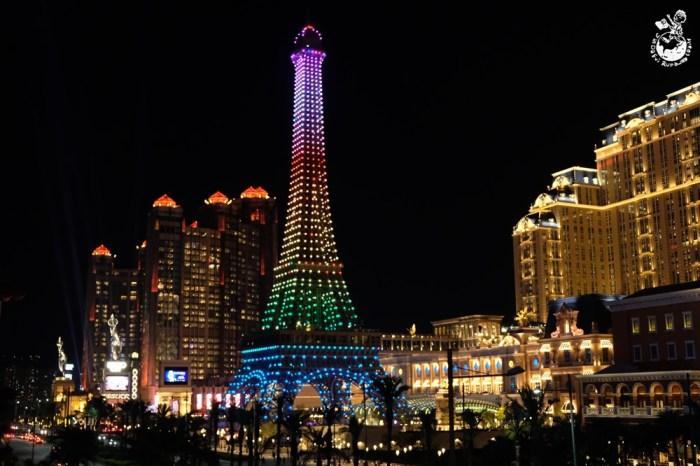 澳門住宿推薦︳澳門巴黎人-澳門巴黎鐵塔燈光秀必看,浪漫壯觀彷彿置身花都巴黎