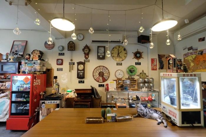 台中北區找路咖啡-有貓咪坐檯,以旅行為主題的復古咖啡館(不限時、有插座、wifi)