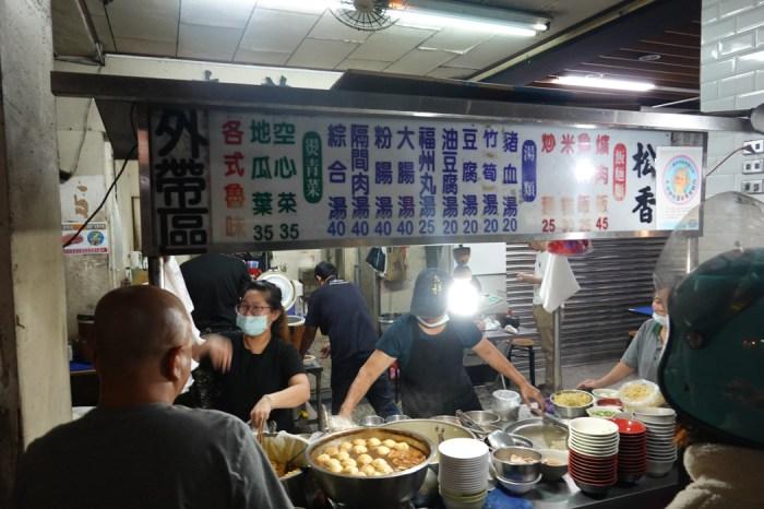 台中松香爌肉飯︱超人氣台中宵夜早餐,綜合湯料多划算