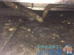 大阪府大阪市城東区  排水管詰まり水漏れ修理