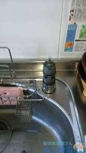 大阪府堺市南区  キッチン蛇口水漏れ修理