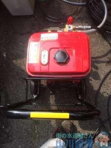 大阪府堺市東区  グリストラップ排水つまり修理高圧洗浄機