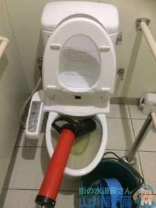 奈良県明日香村 トイレつまり高圧洗浄機