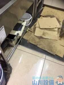 大阪府大阪市平野区加美北  排水管水漏れ修理