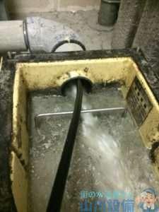 大阪府大阪市天王寺区悲田院町  排水つまり修理  高圧洗浄機  グリストラップ清掃