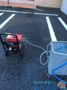 大阪府松原市一津屋  トイレつまり修理  排水管つまり修理  高圧洗浄機