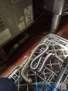 奈良県北葛城郡王寺町久度  水道水漏れ修理  蛇腹から水漏れ