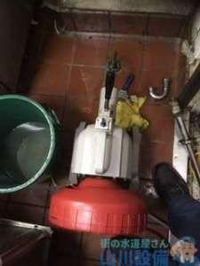兵庫県尼崎市園田町  厨房手洗い排水管つまり修理  ドレンクリーナー