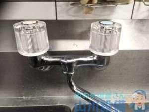 兵庫県尼崎市潮江  シンク水栓止水不良修理  ポタポタ漏れ修理
