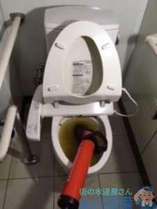 奈良県天理市庵治町  トイレつまり修理  排水管つまり修理  高圧洗浄機