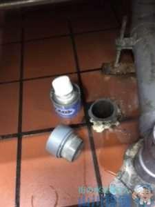 大阪府松原市天美南  排水管水漏れ補修工事