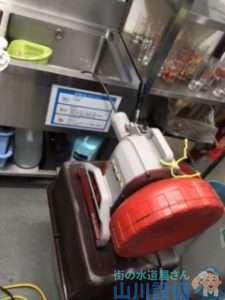 大阪府大阪市浪速区難波中  厨房シンク排水つまり修理  ドレンクリーナー