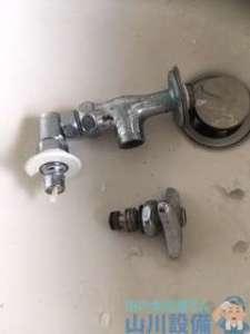 大阪府富田林市楠風台  洗濯機蛇口水漏れ修理  蛇口交換