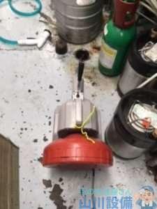 兵庫県尼崎市大庄西町  厨房土間排水つまり修理  ドレンクリーナー