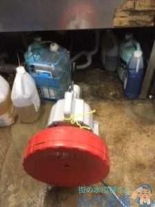 大阪府大阪市東淀川区豊新  厨房グリストラップ排水管つまり修理  ドレンクリーナー