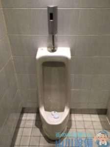 大阪府大阪市淀川区十三本町  男子トイレ小便器故障修理  水が流れない