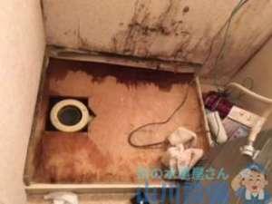 大阪府八尾市小阪合町  階下漏水  漏水調査  洗濯蛇口水漏れ修理  蛇口交換