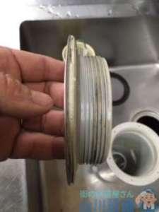 大阪府高石市羽衣  排水トラップ水漏れ修理