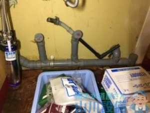 大阪府寝屋川市桜木町  ドリンクバー排水管つまり修理  ドレンクリーナー