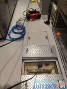 兵庫県神戸市兵庫区中之島  洗い場シンク排水つまり修理  ドレンクリーナー  高圧洗浄機