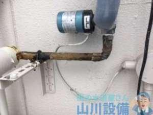 昨日の今日でやはり依頼殺到で給湯器の水漏れ修理の巻、大阪市西区境川編