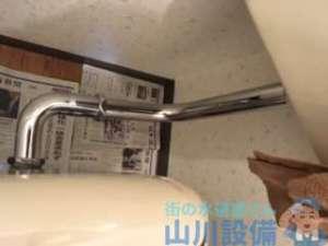 やっぱ古いトイレは触ると水漏れを起こしますの巻、昨日の大阪市中央区谷町のトイレが今度は水漏れ編