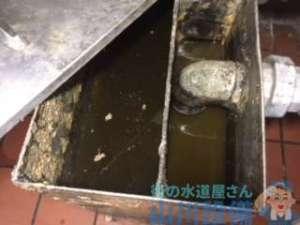 芦屋市春日町のグリストラップつまりは排水管のつまりが原因