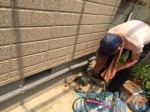 宇治市木幡西中で師匠の給湯管の引き直しの手伝い(苦笑)
