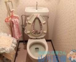 尼崎市南塚口町のトイレ修理は詰まってそうで詰まってないから様子見です。