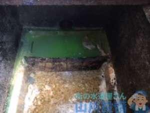 奈良県磯城郡田原本町唐古で厨房排水溝のつまりが発生して緊急対応しました。