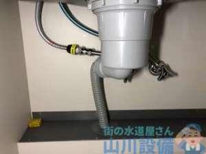 東大阪市額田町にて浄水器取り付けに伴う混合水栓の交換