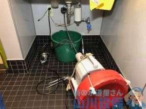 トイレ内の洗面台が詰まった原因と修理方法 東大阪市長堂