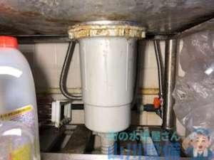 手洗い器排水管破損により水漏れ修理 追加でシンクの排水トラップ交換