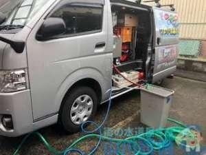 水道業者による高圧洗浄機を使った排水管の定期清掃