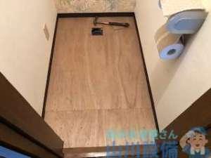 大阪府東大阪市中石切町のトイレの床の張り替えは山川設備にお任せ下さい。