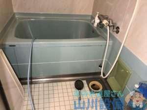 守口市八雲北町でお風呂場の排水管が流れなくなったら山川設備にお任せ下さい。