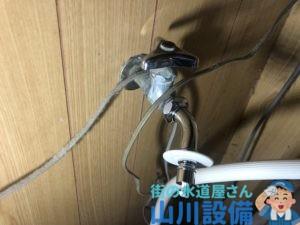 大阪市生野区小路東で洗濯機用L型ニップルの取り付けは山川設備にお任せ下さい。