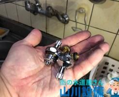 東大阪市松原でスピンドルとコマパッキンの交換は山川設備にお任せ下さい。