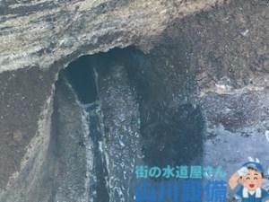大阪府東大阪市の工場のトイレの排水管は土砂も入ってるんで高圧洗浄が有効です。