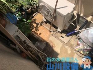 大阪府東大阪市吉松の排水マスが溢れそうになったら山川設備にお任せ下さい。