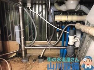 大阪府東大阪市中鴻池町の立水栓とフレキ管ナットの接続部分から水漏れしたら山川設備にお任せ下さい。
