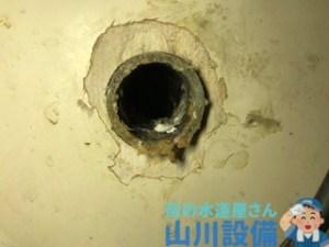 大阪府箕面市小野原東の排水パイプの水漏れは山川設備にお任せ下さい。