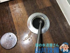 京都府京都市下京区で10mmのワイヤーで通管作業するなら山川設備にお任せ下さい。