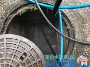 奈良県橿原市葛本町で高圧洗浄しながらの排水経路の確認は山川設備にお任せ下さい。