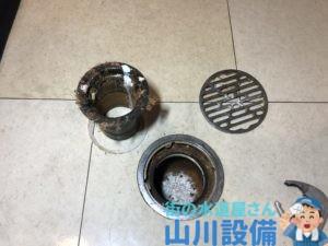 奈良県奈良市柏木町で土間排水口の排水トラップ清掃は山川設備にお任せ下さい。